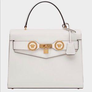 Versace white handbag